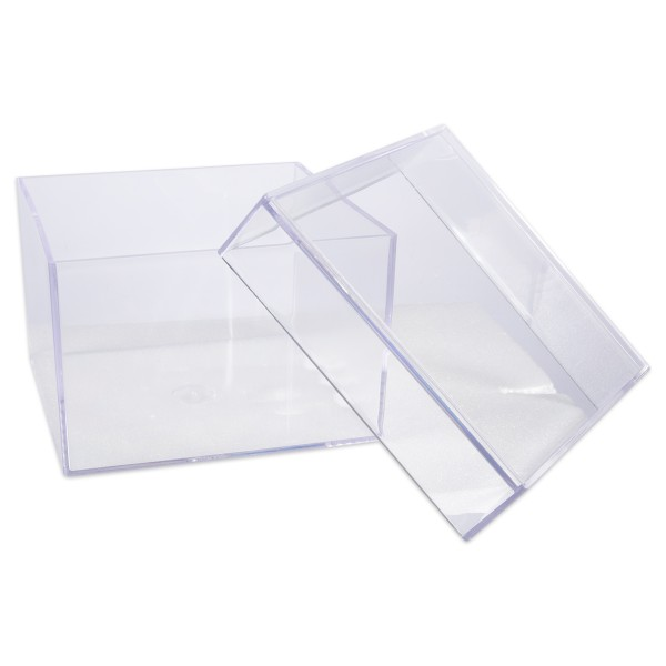 Gütermann Acryldose transparent 75 mm x 75 mm x 50 mm mit Deckel 6917240