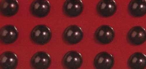 Rayher Plastik-Halbperlen selbstklebend 2 mm DUNKEL-BRAUN 15-106-05