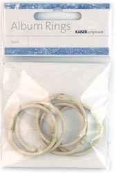 Kaisercraft Album Ringe / rings HELL-BRAUN 3,5 cm M017