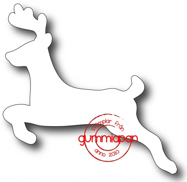 Gummiapan Stanzform Hirsch / Textren D170912