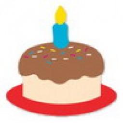Geburtstagskuchen mit Kerze / birthday cake with candle 38-0713