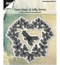 Joycrafts Stanzform Herz mit Stechpalmenblätter / Heart Shape of Holly 6002/0685