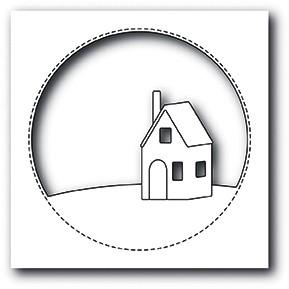 Memorybox Stanzform Haus im Kreis / Cabin Circle 99884