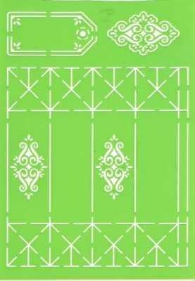 Joy!Crafts Prägeschablone Plastik Geschenkbox A 4 lang 6002/0707 ( hellgrün )