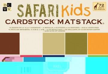 Papierblock Safari Kids Cardstock 11,4 x 16,5 cm MS-003-00061