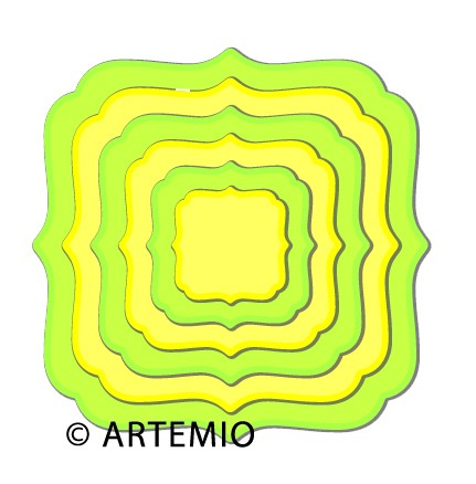 Artemio Happycut Stanz-u.Prägeformen Quadrat Klammerform 18043001