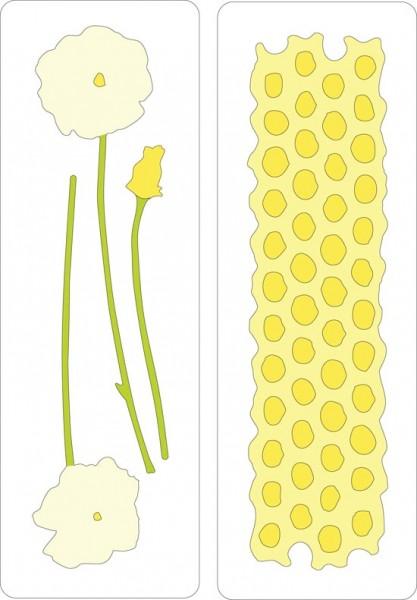 Cuttlebug Stanzform Border 2-er Blume u. Blumenwabe / poppies & honeycomb 37-111