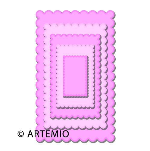 Artemio Happycut Stanz-u. Prägeformen Rechteck gewellt 18044001
