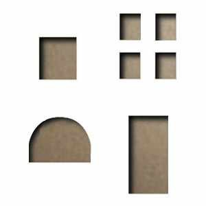 Sizzix Einsatz-Stanzform Movers & Shapers Mini Openings Set 657215