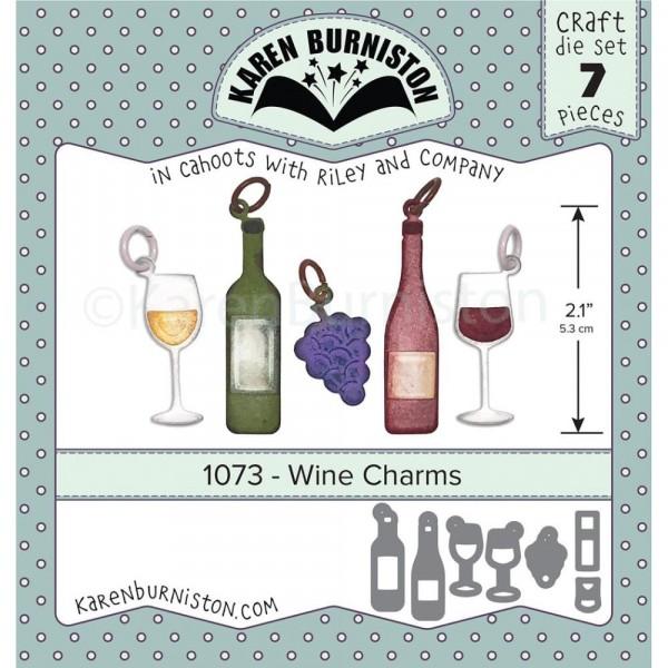 Karen Burniston Stanzform Wein-Charms / Wine Charms 1073