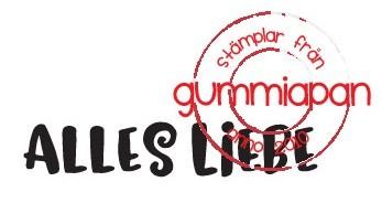 Gummiapan Stempelgummi ' Alles Liebe ' 18030118