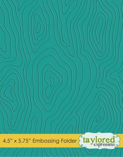 Taylored Expressions Prägefolder Holzstruktur / Woodgrain TEEF17