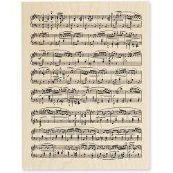 Stampendous Holz-Stempel Musiknoten-Blatt Music Score WSTAMPR R103