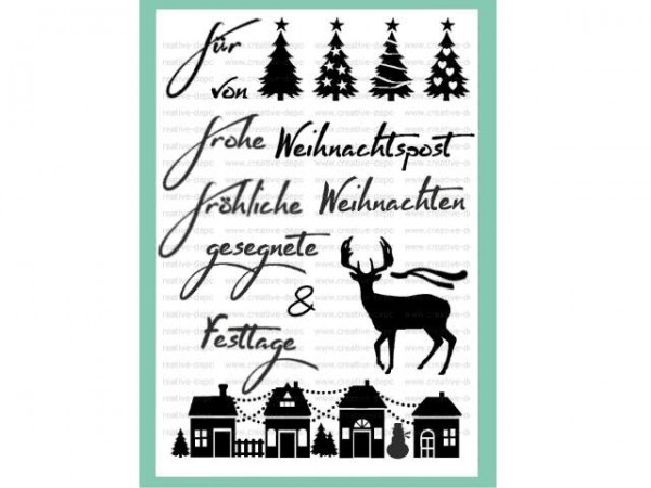 creative-depot Clearstempel-Set Weihnachtspost CD-ST-018