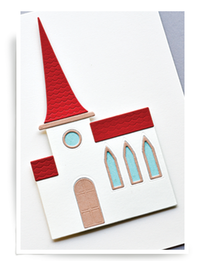 Birch Press Design Stanzform Kirche / Simple Church 57077