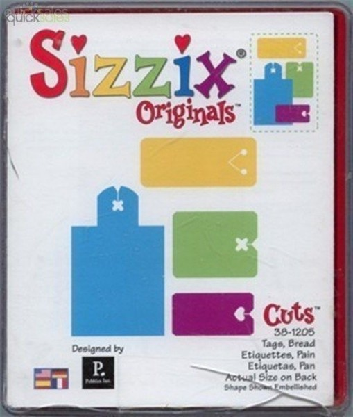 Sizzix Stanzform Originals L Anhänger / tags bread 38-1205 / 654684