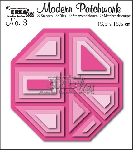 Crealies Stanzform Modern Patchwork Nr. 3 Achteck CLMP03
