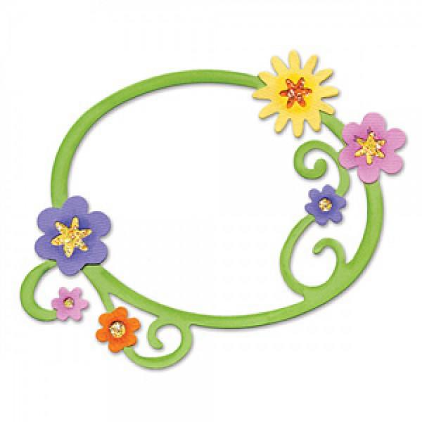 Sizzix Stanzform BIGZ Rahmen mit Blumen u. Wirbel / frame w/flowers 655973