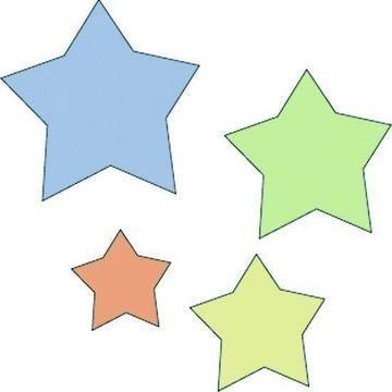Cuttlebug Stanzform 4-er Set KLEIN Sterne / stars 37-1221