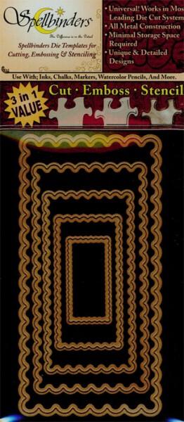 Spellbinders Stanzform Rechtecke lang classic gewellt small / long classic scalloped rectangles smal