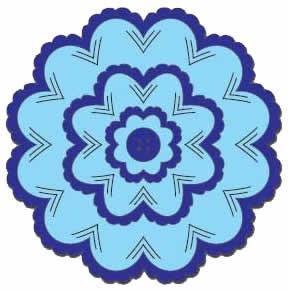 Nellie Stanz- u. Prägeformen Multi Incire Flower 2 MFD032