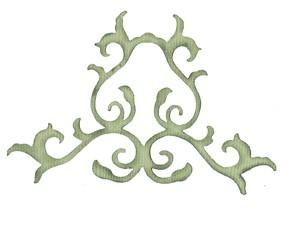 Bosskut Stanzform florales Ornament / ornamental flourish 0992