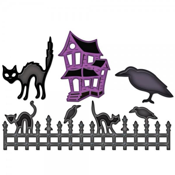 Halloween Zaun Motive / Halloween fence shapes S4-280