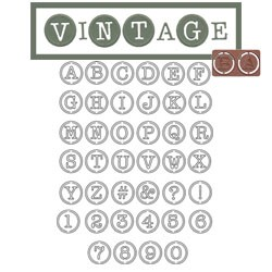 Alphabet u. Zahlen Vintage L2-01