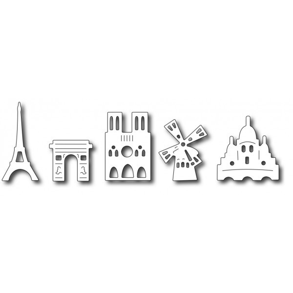 Frantic Stamper Stanzform Paris-Symbole / Paris Icons FRA-DIE-09749