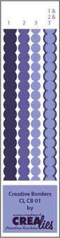 Crealies Creative Borders # 1 ( blau ) CLCB-01
