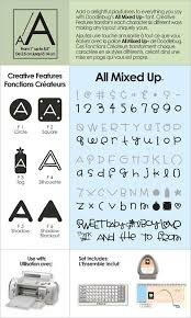 Cricut Cartridge ALL MIXED UP Alphabet 29-0017