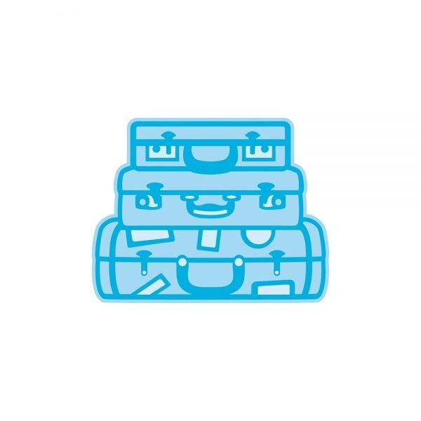 Tonic Studios Stanz-u. Prägeform Koffer aufeinandergestapelt / Travelers Luggage 1625E
