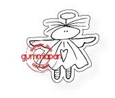 Gummiapan Stanzform Engel mit Heiligenschein KLEIN / Lilla Gittan D170529