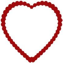Herzrahmen geriffelt / doubel ruffled heart 0967