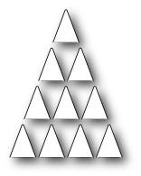 Memorybox Stanzform Weihnachtsbaum aus Dreiecken / Folding Tree 99531