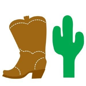AccuCut Zip'e Slim Stanzform MEDIUM Cowboystiefel & Kaktus / Cowboy Boot & Cactus 41413