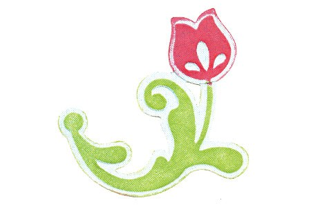 Sizzix Stanz-u. Prägeform Embosslits SMALL Blume mit Stenle / Flower w/ Stem 657045