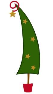 Bosskut Stanzform Weihnachtsbaum / funky christmas tree 0610