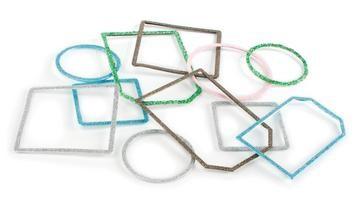 SLICE Tag Maker Rahmen blau Glitter 32488
