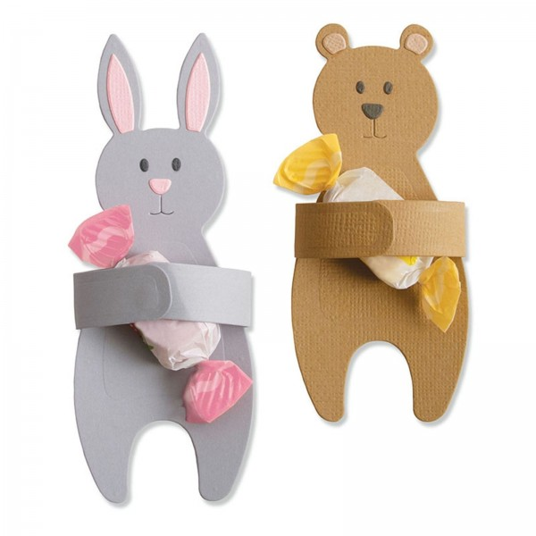 Sizzix Stanzform Thinlits Hasen-u. Bären-Umarmung / Bunny & Bear Hugs 663452