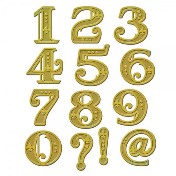 Spellbinders Stanz-u. Prägeform Zahlen / Victorian Numbers S4-540 / 4290342