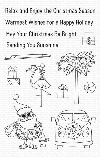 My Favorite Things Clearstempel-Set Nikolaus, Auto, Flamingo u. Palme / Sun-Lovin' Santa CS-431
