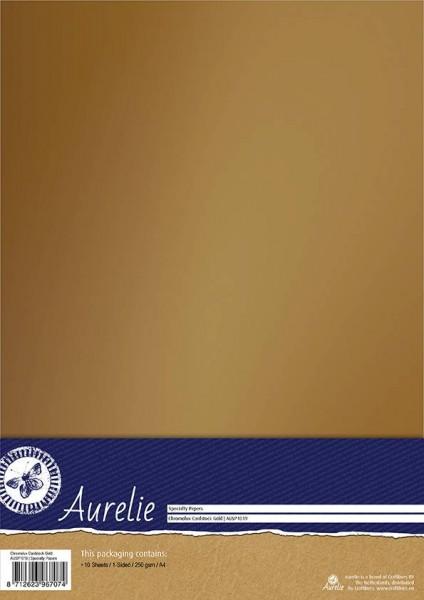 Aurelie Chromolux Cardstock A4 GOLD AUSP1019