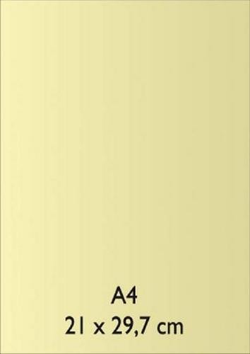 Pearl Papier A 4 HELLGELB mit Klebefolie