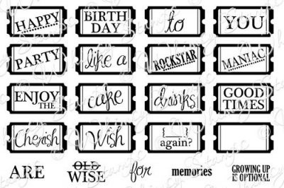 Whimsy Stamps Cling-Stempelplatte Tickets Mini / Celebration Mini Tickets 10064