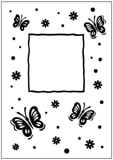 Crafts Too Prägefolder exclusiv Butterfly Frame CTFD3040
