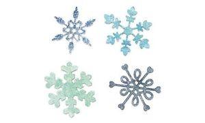 Sizzix Stanzform Sizzlits SMALL 4-er Set Schneeflocken / snowflakes 654370