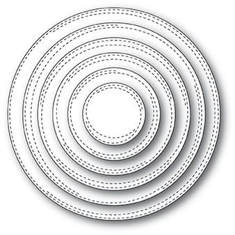 Memorybox Stanzform Kreise mit Doppel-Nähnaht / Wrapped Circles 30114
