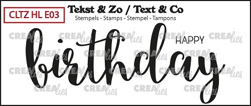 Crealies Clear Stempel Handlettering No. 3 ' HAPPY birthday ' Happy Birthday solid CLTZHLE03