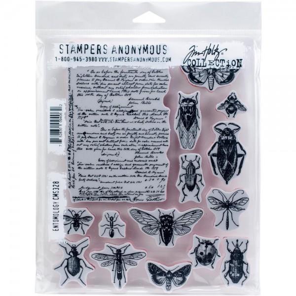 Tim Holtz Cling Stempel Insekten / Entomology CMS328